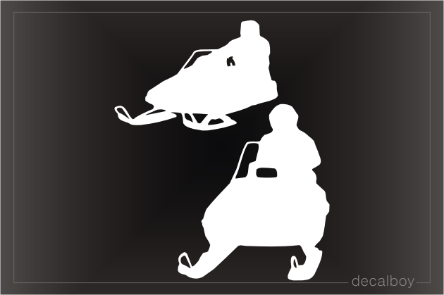 Snowmobiling Window Decal