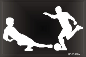 Soccer Players Window Decal
