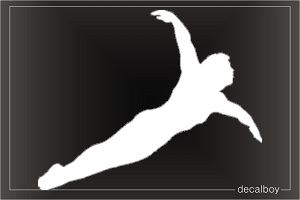 Swimmer 72 Window Decal