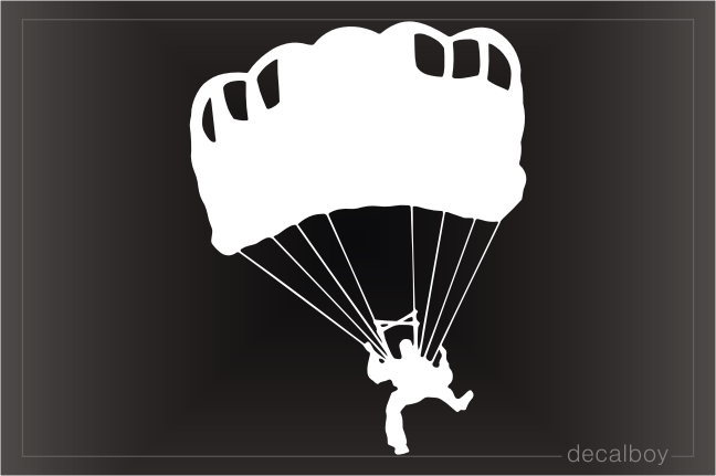 Skydiver Window Decal