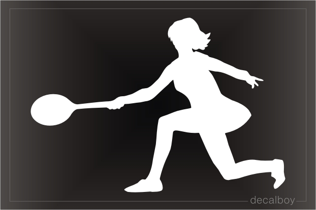 Tennis Player 2 Window Decal