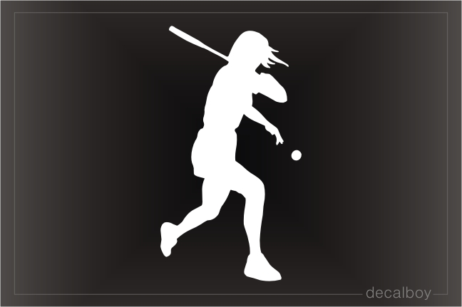 Tennis Player 3 Window Decal