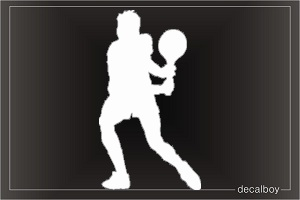 Tennis 4 Window Decal