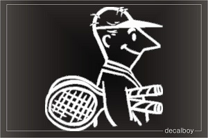 Tennis An Window Decal