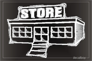 Store Building Car Decal