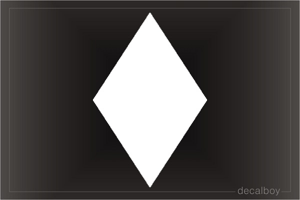 Diamond 3 Car Decal
