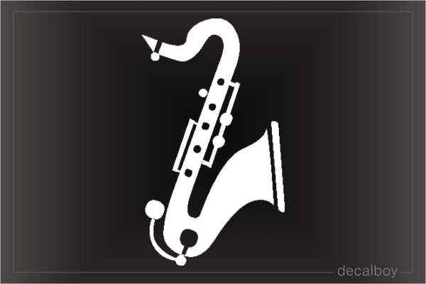 Tenor Saxaphone Car Decal