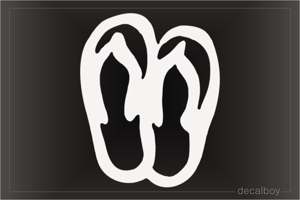 Sandals Car Decal