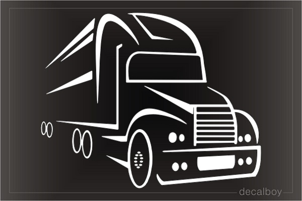Semi Truck With Trailer Decal