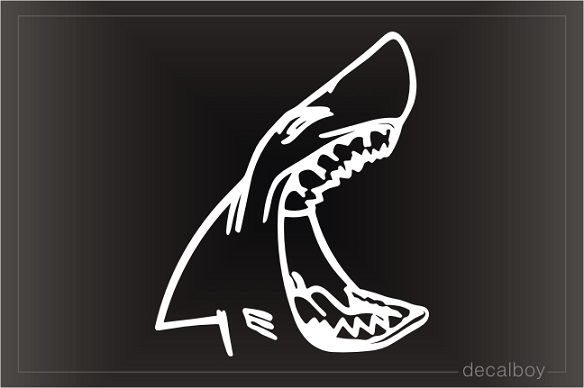 Shark Mouth Window Decal