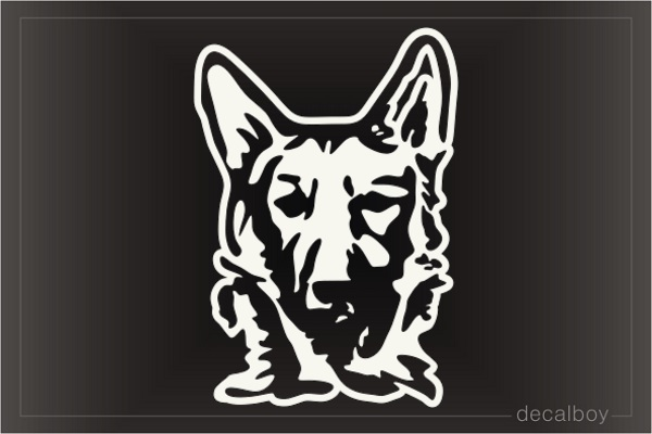 German Shepherd Face Car Window Decal