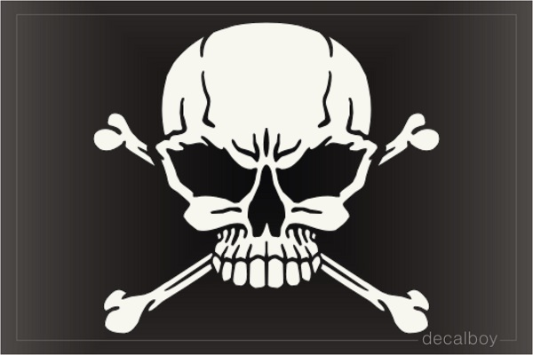 Skeleton Skull Crossbone Decal
