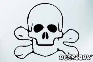 Skull 555 Car Window Decal