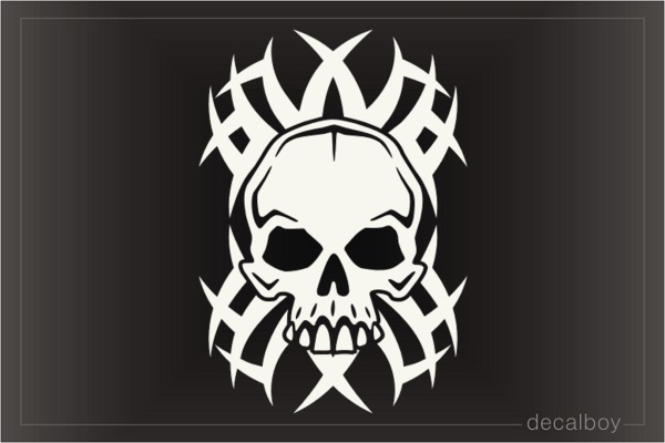 Skull Tribal Background Decal