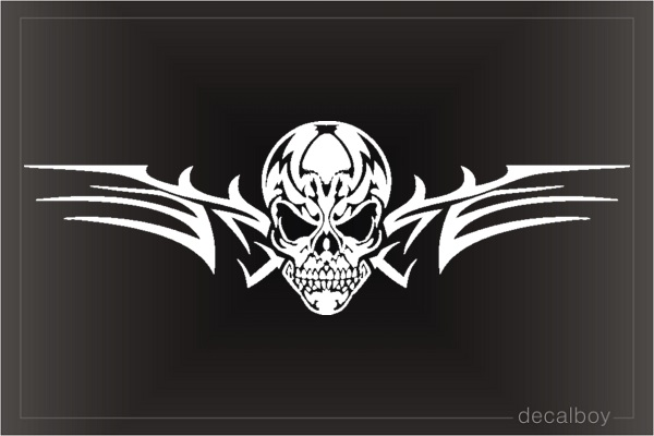 Cowboy skull head decal skull head sticker car decal cowboy vinyl sticker