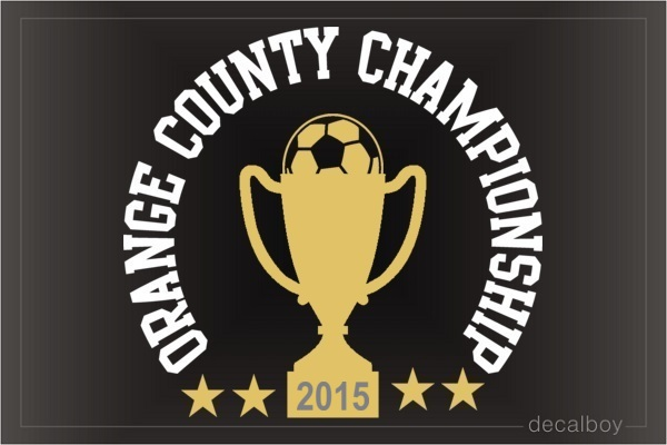 Soccer Championship Logo Decal