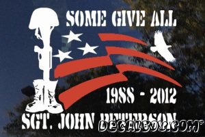 Some Gave All Memorial Car Decal