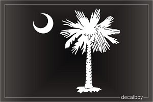 South Carolina Flag Palmetto Tree Crescent Moon Decal