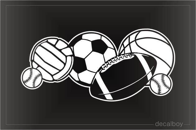Sport Balls Window Decal