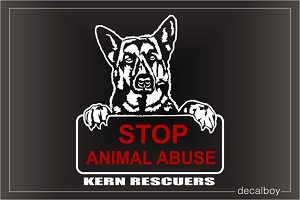 Stop Animal Abuse Decal