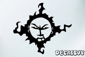 Sun Mad Face Car Window Decal