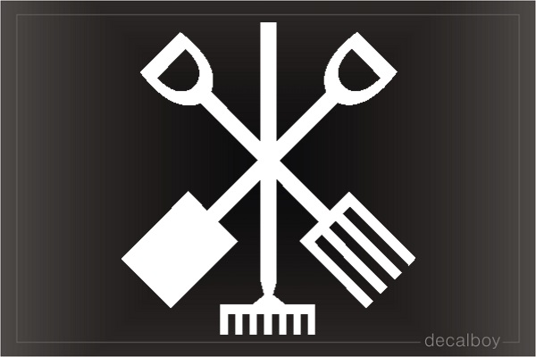Garden Tools Car Decal