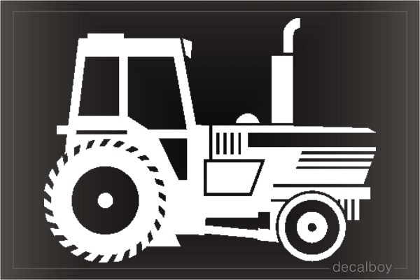 Tractor Window Decal