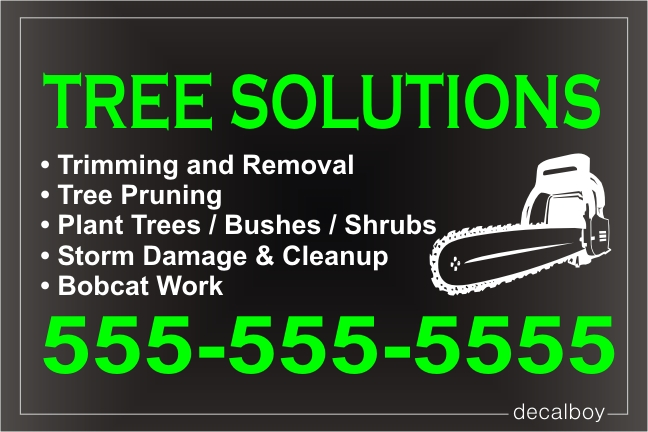 Tree Solutions Sign Decal