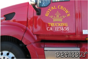 Business Logo For Commercial Truck Vinyl Die-cut Decal