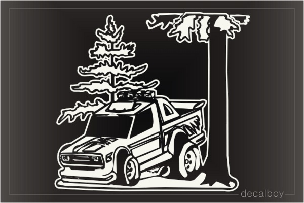 Truck Tree Window Decal