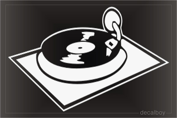 Turntable Car Decal