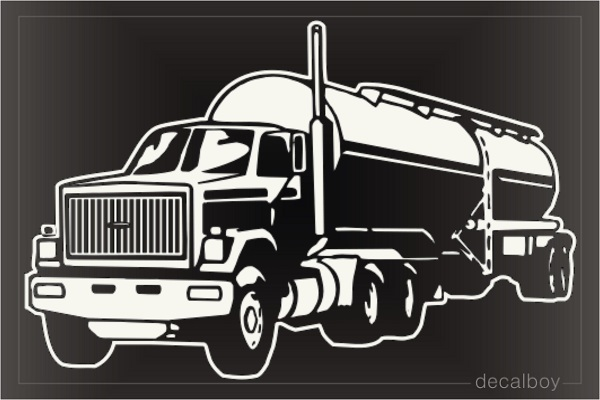 Tanker Truck Decal