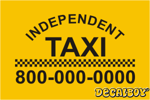 Taxi Decal Kit Vinyl Die-cut Decal