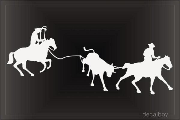 Team Roping Window Decal