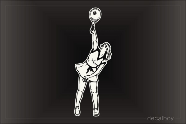 Tennis Player Girl Window Decal