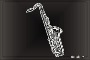 Tenor Saxophone Window Decal