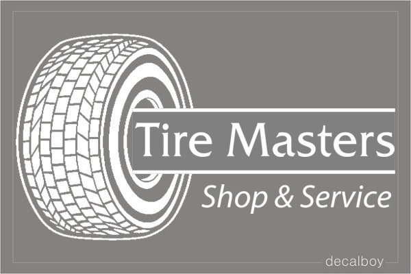 Tire Shop Logo Decal
