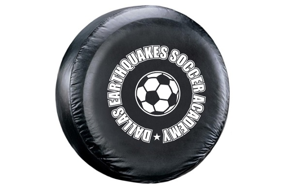Tire Cover Custom Text Decal
