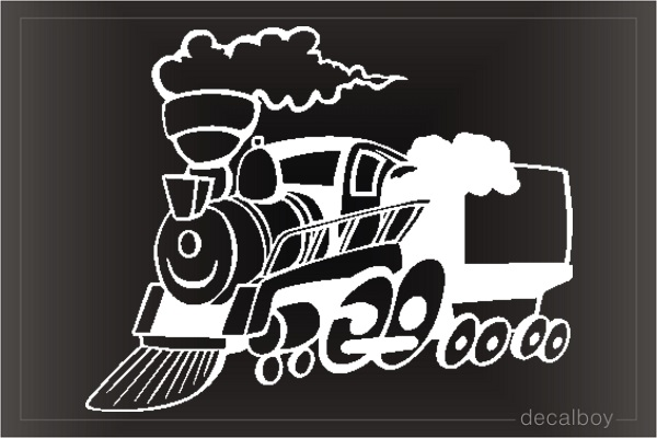 Train Cartoon Window Decal