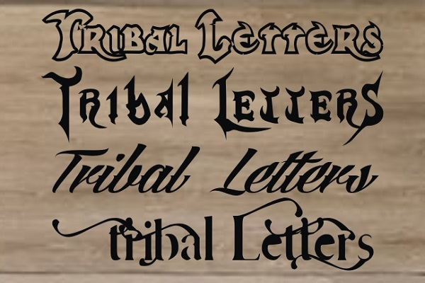 Tribal Letters Car Decal