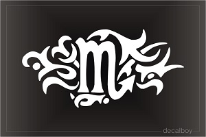 Tribal Scorpio Die-cut Decal