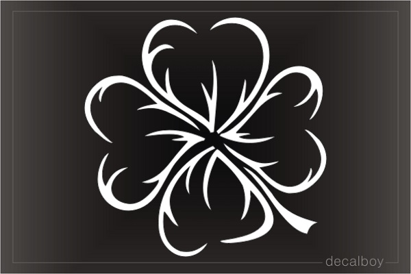 Tribal Shamrock Fourleaf Decal