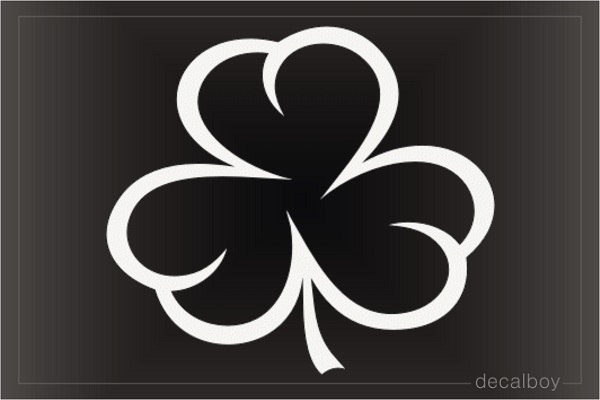 Tribal Shamrock Three Leaf Decal