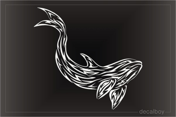 Tribal Dolphin 2 Window Decal