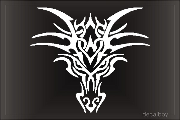 Tribal Dragon Tattoo Face Decal