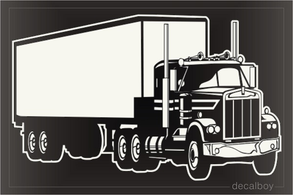 Truck 18 Wheeler Window Decal