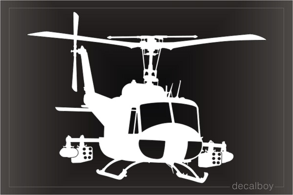 UH 1 Huey Helicopter Decal