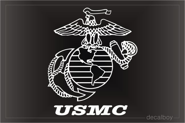 US Marines Car Decal
