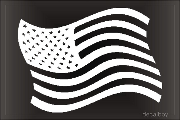 USA Flag Auto Decal