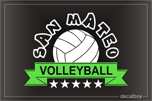 Volleyball Team Logo Decal